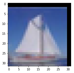 A very pixelated boat